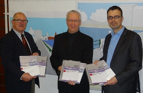 Silvio Sagramolo, Thomas Golka and Peter Neumann presenting ECA 2013 in Berlin