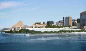 Vue du Museu do Amanhã (Musée de Demain) à Rio de Janeiro