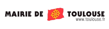 Toulouse city council logo - 'Mairie de Toulouse' with a red flag upon which is a yellow cross