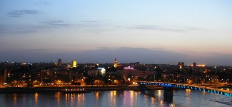 View of Novi Sad at dusk