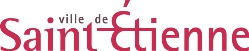 Image of the Saint-Étienne City Council logo: the words 'ville de' in black above and 'Saint-Étienne' in pink below