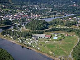 Photo of Sollefteå, taken from the air