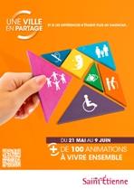 Couverture du programme de la manifestation 'Une ville en partage'