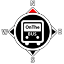 Image of the OnTheBus logo, a drawing of a compass containing a diagram of the front of a bus upon which is written the words 'OnTheBUS'